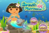 Играть Дора красивая русалочка онлайн флеш игра для детей