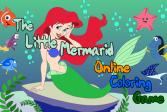 Играть Раскраска онлайн про маленькую Русалочку онлайн флеш игра для детей