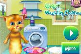 Играть Джинджер стирает одежду онлайн флеш игра для детей