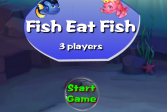 Играть Рыба ест рыбу - 3 игрока онлайн флеш игра для детей