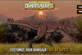 Играть Сражение гигантов: Динозавры онлайн флеш игра для детей