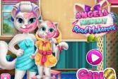 Играть Говорящая кошка Анжела: Реальное перевоплощение онлайн флеш игра для детей