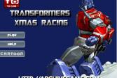 Играть Рождественские Гонки Трансформеров онлайн флеш игра для детей
