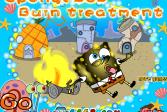 Играть Губка Боб: Лечение ожогов онлайн флеш игра для детей
