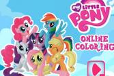 Играть Мой маленький пони - раскраска онлайн флеш игра для детей