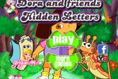 Играть Дора и друзья Скрытые Буквы онлайн флеш игра для детей