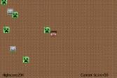 Играть Майнкрафт выживание онлайн флеш игра для детей