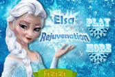 Играть Омоложение Эльзы онлайн флеш игра для детей