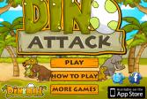 Играть Дино атака онлайн флеш игра для детей