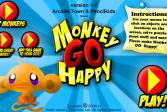 Играть Счастливая обезьянка онлайн флеш игра для детей