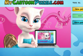 Играть Говорящая Анжела. Головоломка-пазл онлайн флеш игра для детей