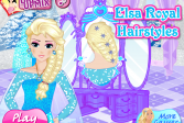 Играть Королевские Прически Эльзы онлайн флеш игра для детей