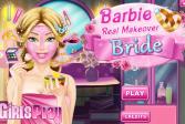 Играть Настоящий макияж невесты Барби онлайн флеш игра для детей