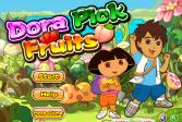 Играть Даша собирает фрукты онлайн флеш игра для детей