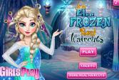 Играть Морозные стрижки Эльзы онлайн флеш игра для детей