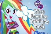 Играть Моя маленькая пони: Одень Рэйнбоу Дэш онлайн флеш игра для детей