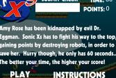 Играть Соник XS онлайн флеш игра для детей
