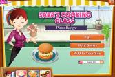 Играть Кулинарный класс Сары-Пицца бургер онлайн флеш игра для детей