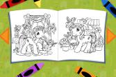 Играть Мой маленький пони: Кристалльная принцесса - Книжка раскраска онлайн флеш игра для детей