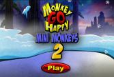 Играть Счастливая Обезьянка: Мини Обезьянки 2 онлайн флеш игра для детей