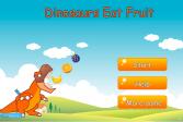 Играть Динозавр кушает фрукты онлайн флеш игра для детей