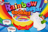Играть Радужное сахарное печенье онлайн флеш игра для детей