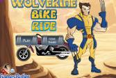 Играть Поездка Росомахи на мотоцикле онлайн флеш игра для детей