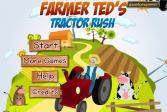 Играть Фермер Тед заезд на тракторе онлайн флеш игра для детей