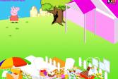 Играть Декор сада Свинка Пеппа онлайн флеш игра для детей