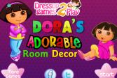 Играть Декорируем комнату Доры онлайн флеш игра для детей