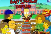 Играть Оборона Барта Симпсона онлайн флеш игра для детей