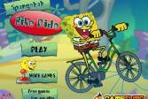 Играть Губка Боб: Рейс на велосипеде онлайн флеш игра для детей