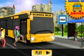 Играть Опытный водитель школьного автобуса онлайн флеш игра для детей