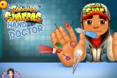 Играть Сабвей Серферс: доктор лечит руку онлайн флеш игра для детей