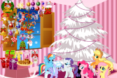 Играть Май литл пони: Украшение на Рождество онлайн флеш игра для детей