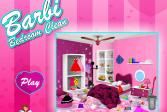 Играть Барби - уборка в спальной комнате онлайн флеш игра для детей