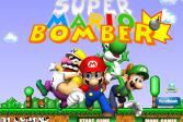 Играть Супер Марио Бомбермен онлайн флеш игра для детей