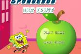 Играть Губка Боб ест фрукты онлайн флеш игра для детей