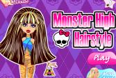 Играть Монстер Хай: Стильная прическа онлайн флеш игра для детей