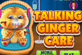 Играть Забота о Говорящем Джинджере онлайн флеш игра для детей