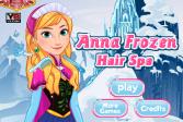 Играть Спа-салон для волос Анны онлайн флеш игра для детей