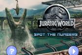 Играть Парк Юрского периода: Найдите числа онлайн флеш игра для детей