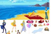 Играть Свидание на пляже онлайн флеш игра для детей