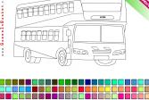 Играть  Раскраска: Двухэтажный автобус онлайн флеш игра для детей
