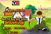 Играть Бен 10: стрельба стрелами из лука онлайн флеш игра для детей
