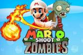 Играть Стрелялка Марио против зомби онлайн флеш игра для детей