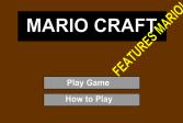 Играть Майнкрафт: Ремесло Марио онлайн флеш игра для детей