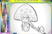 Играть Раскраска: Маша Снегурочка онлайн флеш игра для детей