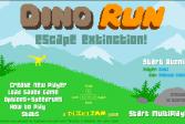 Играть Бег Динозавра: убежать от вымирания онлайн флеш игра для детей