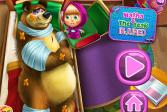 Играть Маша и Медведь: Пострадавший Мишка онлайн флеш игра для детей